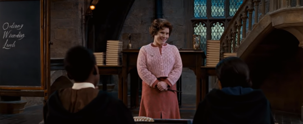 Dolores Umbridge © 2001-2011 Warner Bros. Ent. All Rights Reserved. Wizarding World™ Publishing Rights © J.K. Rowling WIZARDING WORLD and all related characters and elements are trademarks of and © Warner Bros. Entertainment Inc.