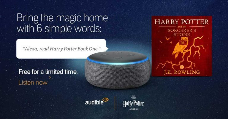 Audible and Pottermore Publishing add the first 'Harry Potter' book to Alexa Home Devices AUDIBLE & POTTERMORE PUBLISHING